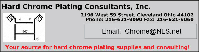 Hard Chrome Plating Consultants, Inc. 216-631-9090